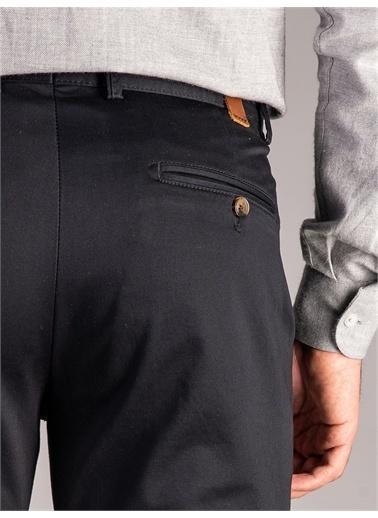 Dufy Dufy Düğme Detaylı Regular Fit Düz Haki Erkek Pantolon Siyah